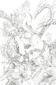 Grimm Fairy Tales #25 Retailer Incentive Sketch Variant comic book 1:25 Zenescope